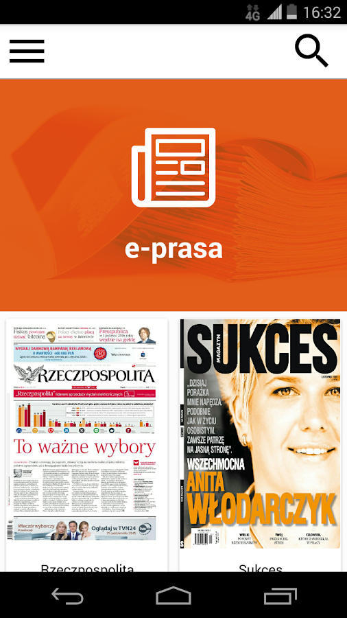 eGazety- screenshot