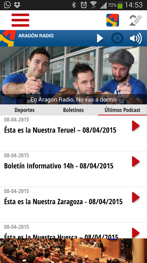 Aragón Radio- screenshot