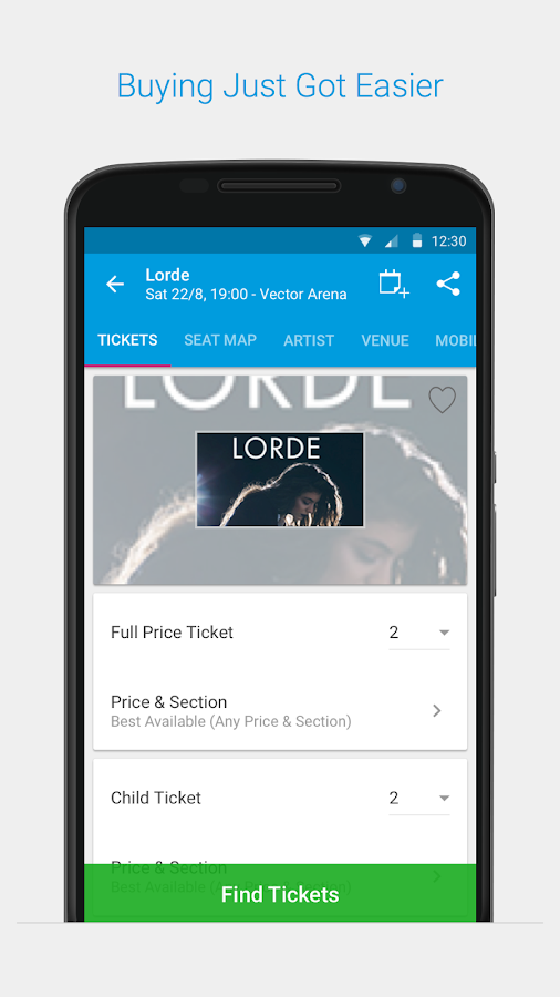 Ticketmaster NZ Event Tickets- screenshot