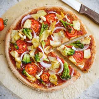 Healthy Vegan Pizza.