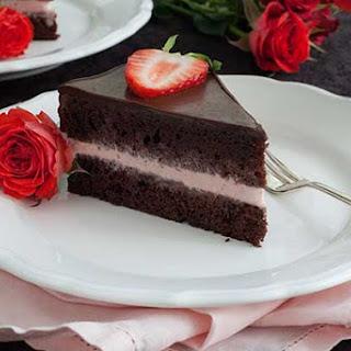 Gluten Free Chocolate Strawberry Ice Cream Cake.
