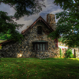 Stone Cottage by Chris Cavallo - Buildings & Architecture Decaying & Abandoned ( sky, chimney, cottage, stones, decay, abandoned, trees, stone,  )