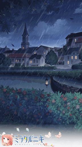 雨夜の花壇