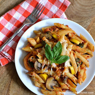 Cheesy Veggie Pasta Bake Recipe