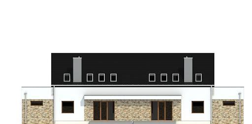 Sosnówka z garażem 1-st. bliźniak A-BL2 - Elewacja tylna