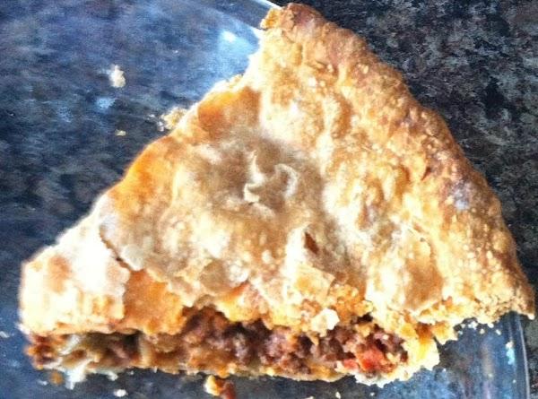 Hamburger Meat Pie Recipe