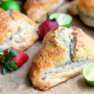 Strawberry Key Lime Scones & Collection of 50 Key Lime Recipes