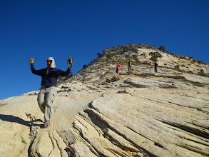 Photo: Descending the slabs