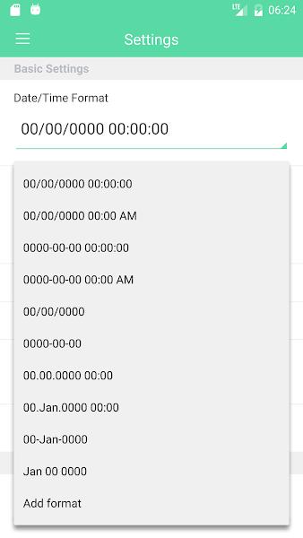 Camera Timestamp Screenshot Image