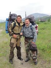 Photo: Сергей и Евгений из Сыктывкара, ехали одним поездом с нами, идут на недельку в горы.