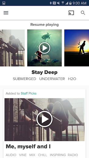 Screenshot 0 for 8tracks's Android app'