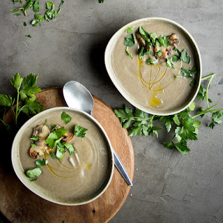 Mushroom and Lentil Soup with Miso.