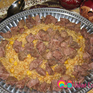 Bulgur Pilaf with Beef and Garbanzo