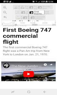 History Timeline Of Airplanes - náhled