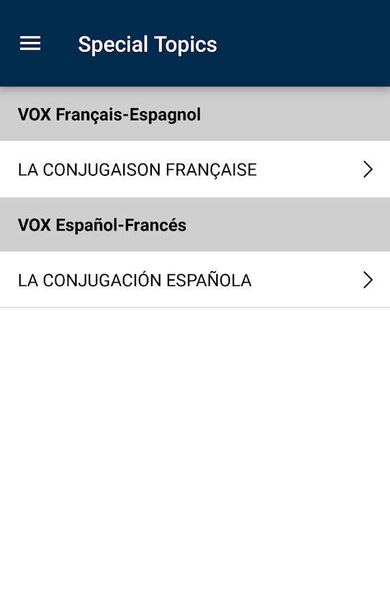 Vox French<>Spanish Dictionary- screenshot
