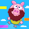 Piggy Free For Kids - Jump Up icon