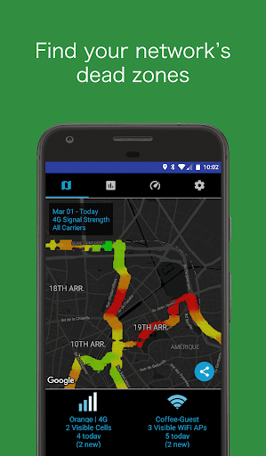 Coverage - Cell and Wifi Network Signal Test app (apk) free download for Android/PC/Windows screenshot