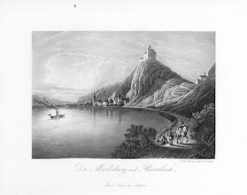 Photo: Marksburg auf einem Stahlstich von 1840   © Wikipedia