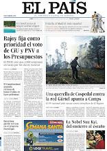 Photo: Rajoy fija como prioridad el voto de CiU y PNV a los Presupuestos; El Constitucional acumula un retraso del hasta 13 años en leyes polémicas; Una querella de Cospedal contra la red Gürtel apunta a Camps; Un hotel junto al mayor arenal virgen, entre los tema de nuestra portada del lunes 2 de abril http://srv00.epimg.net/pdf/elpais/1aPagina/2012/04/ep-20120402.pdf