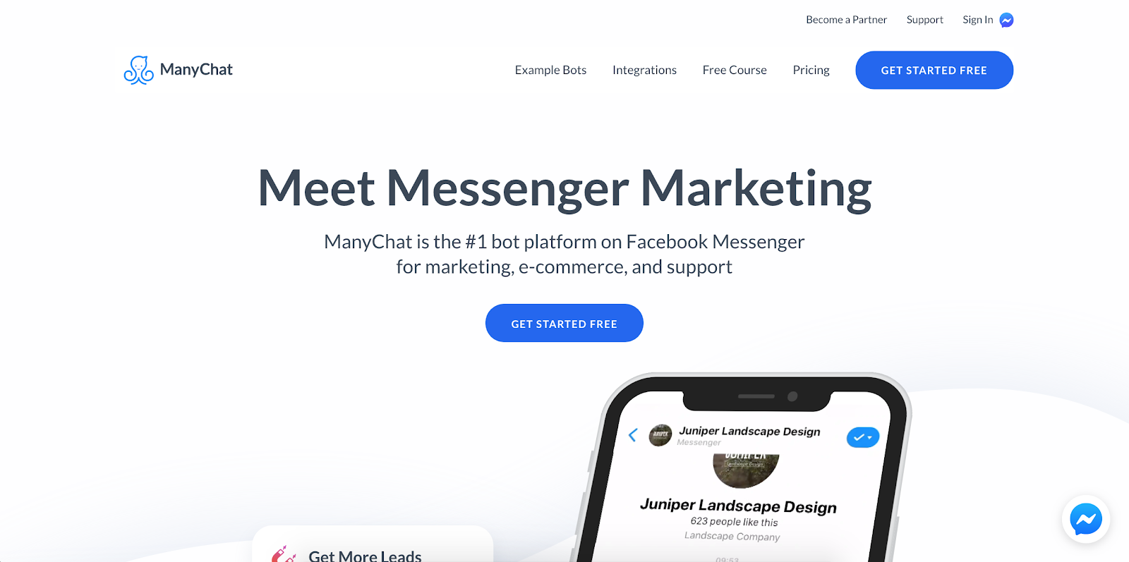 ManyChat is the first Best B2B Lead Generation Tool example | The article is 21 of the Best B2B Lead Generation Tools for 2020
