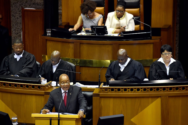 President Jacob Zuma during the 2017 State of the Nation Address. Picture: GCIS