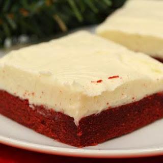 Red Velvet Sugar Cookie Bars
