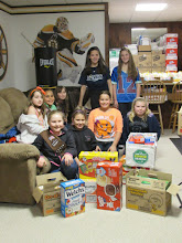 Photo: Food donation from the Brownies!! Thank you!!