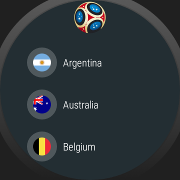 World Cup watch face background image complication  screenshots 31