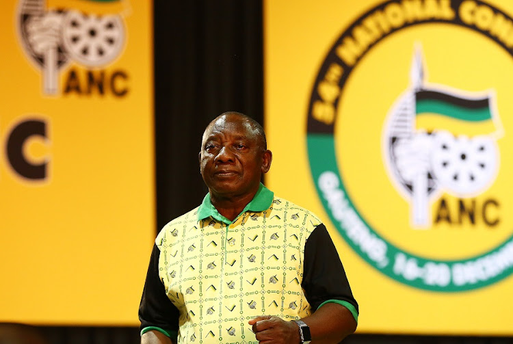 Cyril Ramaphosa delivering his closing address as the newly elected ANC President during the 54th ANC Elective Conference. Picture: MASI LOSI