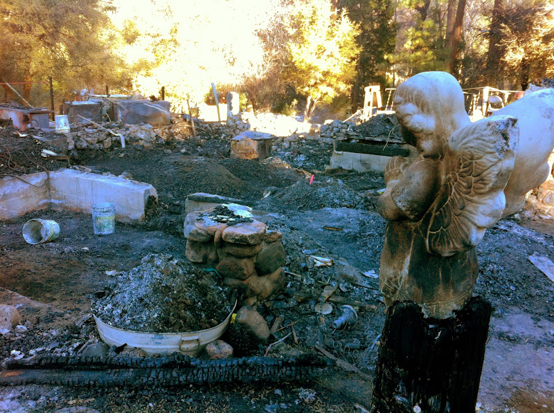 Photo: Scene of the burned down cabin where Christopher Dorner's remains were found.