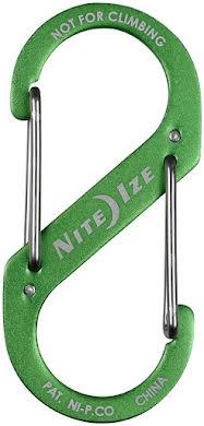 Nite Ize S-Biner #3 Aluminum Dual Carabine, Anodized Lime alternate image 0