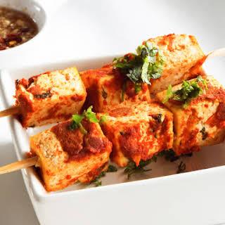 Red Curry Tofu Skewers | Vegan.