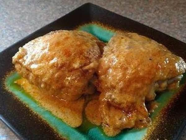 Chicken Thighs In Cheesy Mustard Sauce Recipe