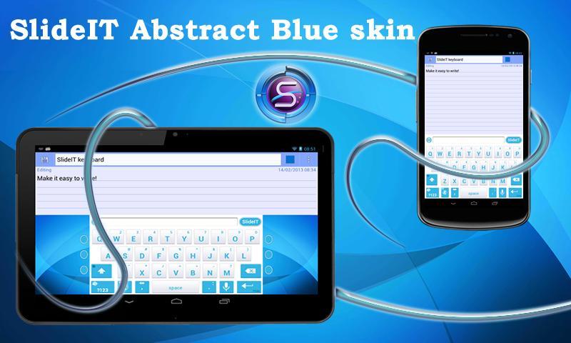 Скриншот SlideIT Abstract Blue Skin