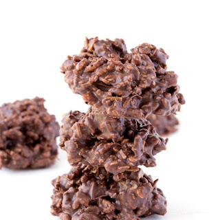 4 Ingredient No Bake Chocolate Cookies.