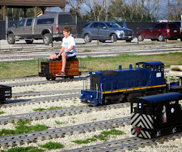 Photo: Case Alexander on his speeder with Gary McCoy's SW1500 and JT Bailey's box cab in the foreground.     HALS Chili Fest Meet 2014-0228 RPW