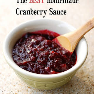 The Best Cranberry Sauce Ever! Quick, Easy and Make Ahead!.