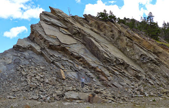 Photo: Road-side geology stop west of East Glacier