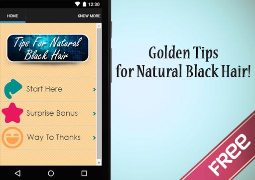 Tips For Natural Black Hair