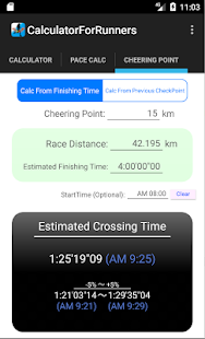 Calculator for Runners- screenshot thumbnail