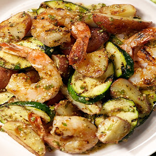 Grilled Shrimp & Warm Potato Salad