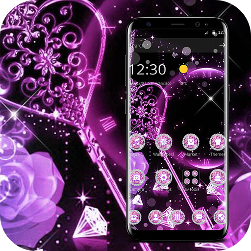 Pink Black Sparkling Diamond Theme