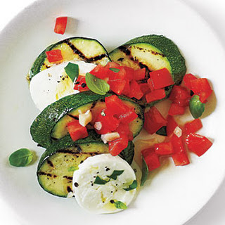 "Caprese ""Salsa"" Zucchini with Sea Salt"
