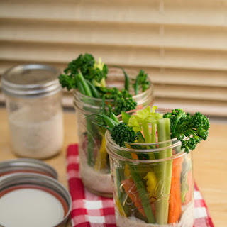 Crudité Cups with Homemade Ranch Dressing