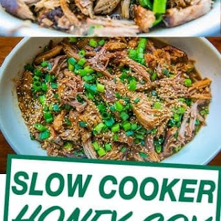 Slow Cooker Honey Soy Pulled Pork.
