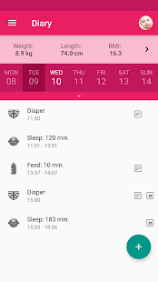 Baby Tracker. Breastfeeding Log & Nursing - MeGrow- screenshot thumbnail
