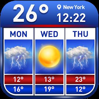 Weather Report & Temperature Widget