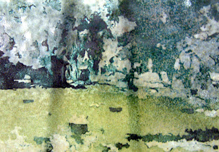 Photo: 'Stones 3', 2010 - fused stained hammered glass, 25x30cms - STUDIO SALE £40