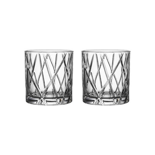 Whiskeyglas. Orrefors City Double Old Fashioned 2-Pack
