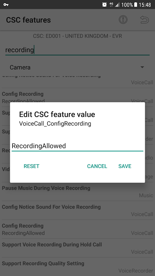 CSC Feature Expert for Samsung- screenshot